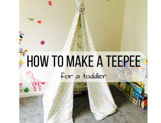 How to make a teepee - easy toddler teepee instructions using things around the house