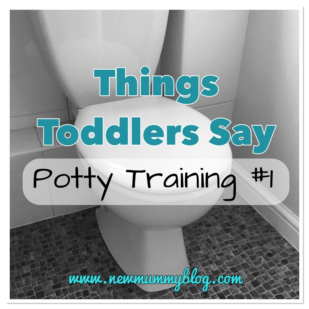 Potty Training Funny things toddlers say - potty training