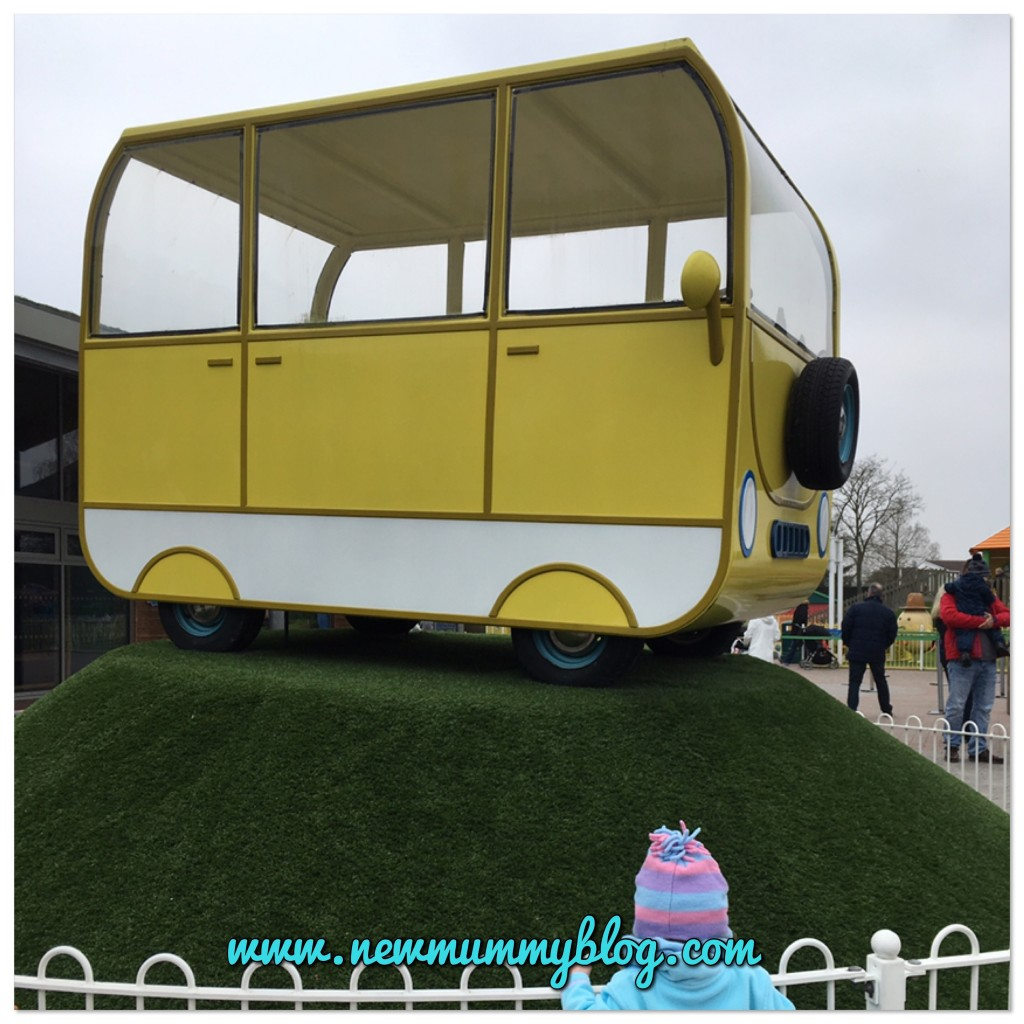Peppa's campervan at Peppa Pig World in Southampton - our family day out with two year old Toddler H