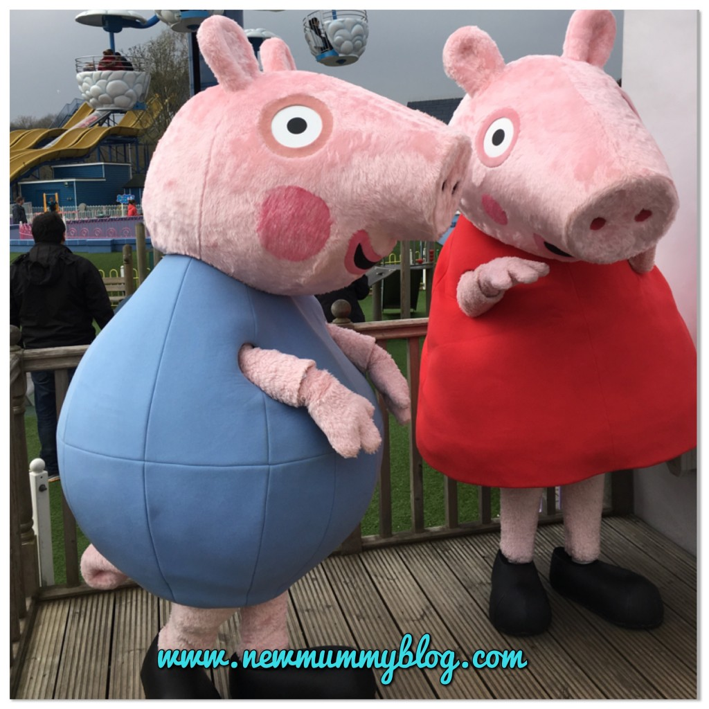 Meet Peppa and George at Peppa Pig World in Southampton - our family day out with two year old Toddler H