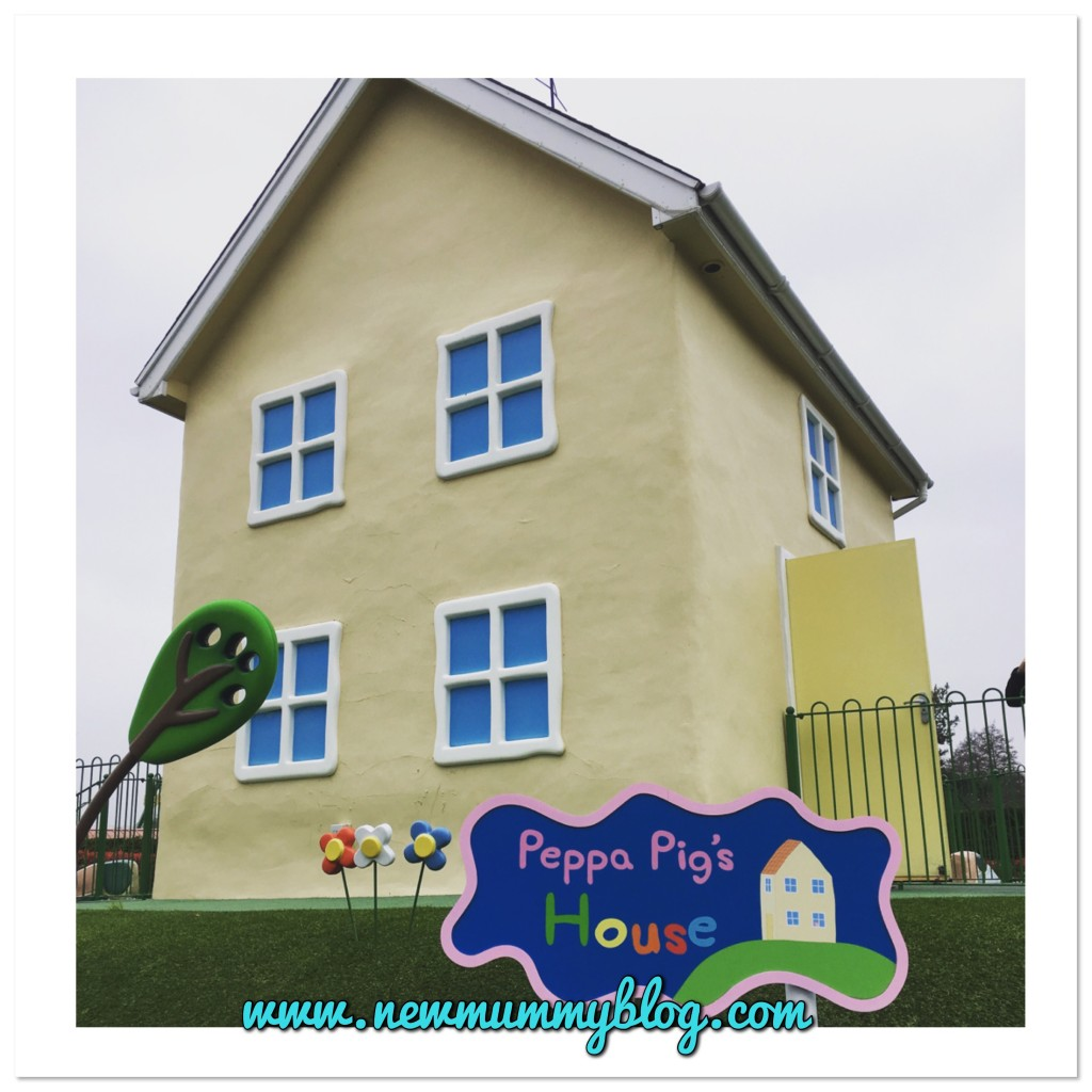 Peppa Pig World with 2 year old review - visiting Peppa Pig's house on a day out at Paultons Park near Southampton
