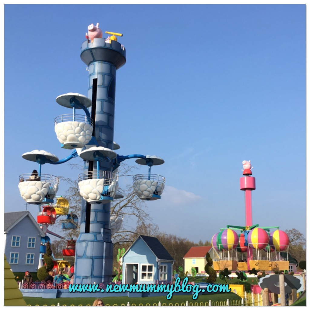 Review Peppa Pig World with two year old family days out Southampton Balloon ride and windy castle