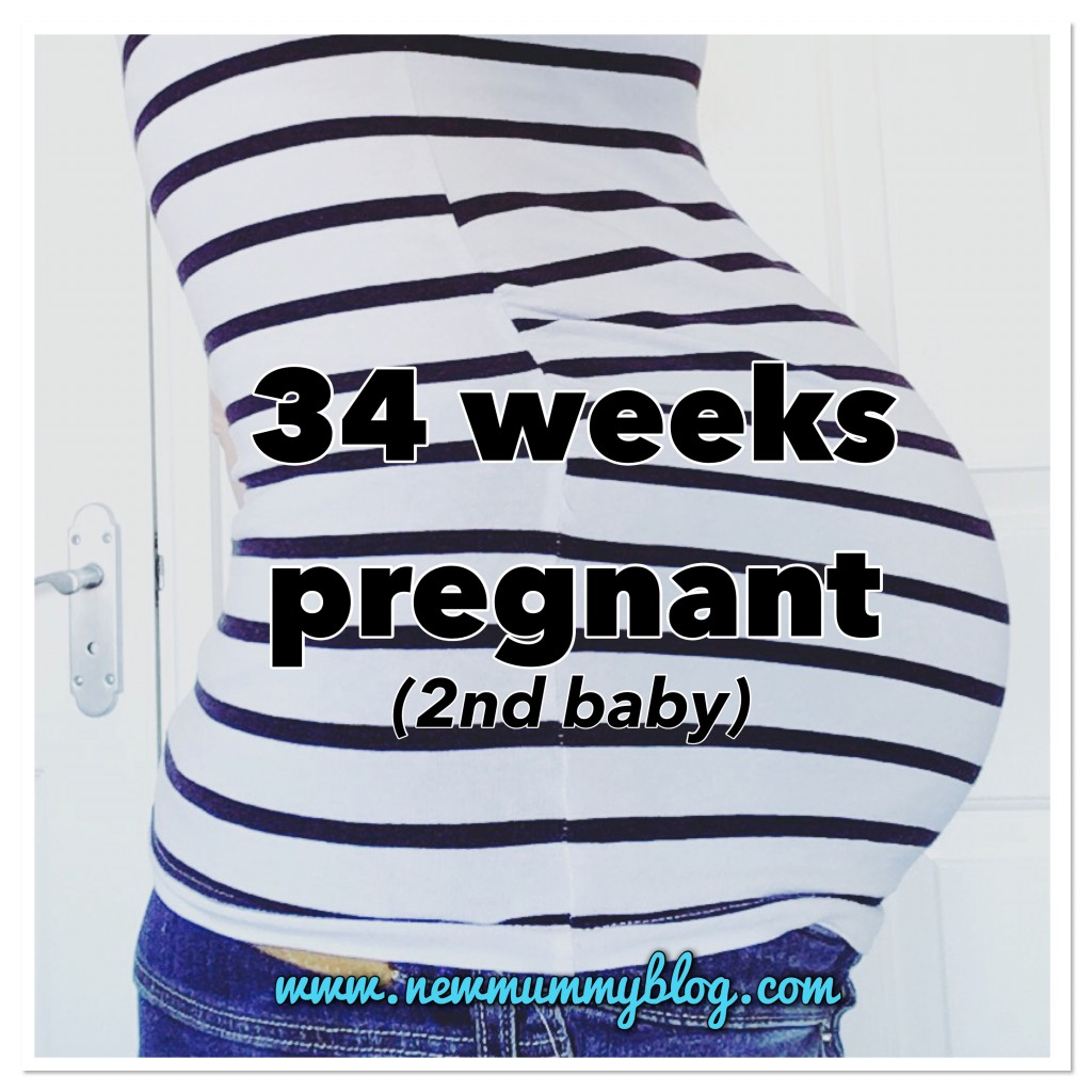 34 weeks pregnant - 2nd baby | Braxton Hicks & Nesting