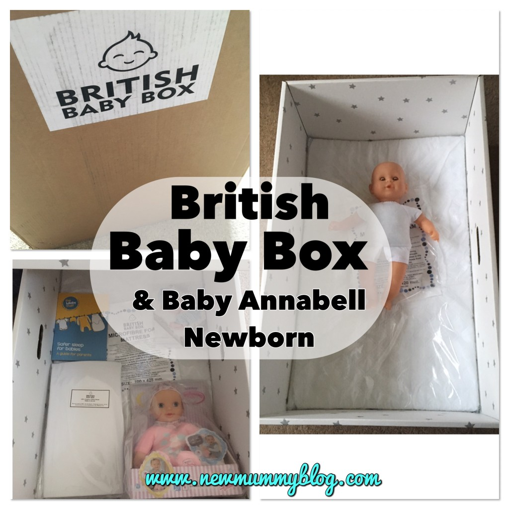 British Baby Box and Baby Annabell Newborn - new baby gifts - a review