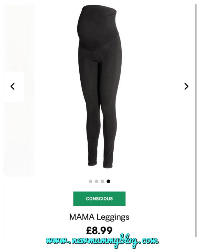 Maternity clothes new mummy blog favourites H&M maternity leggings
