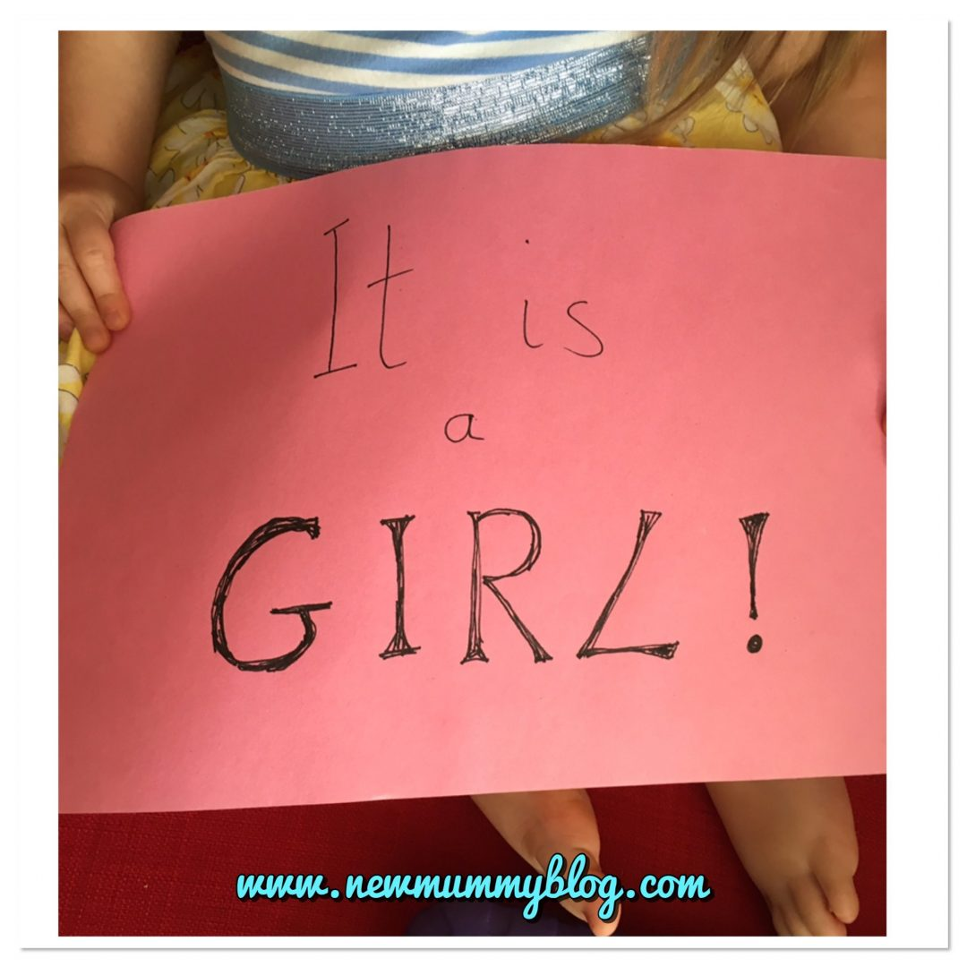 Gender reveal after 20 week scan it's a girl toddler sign
