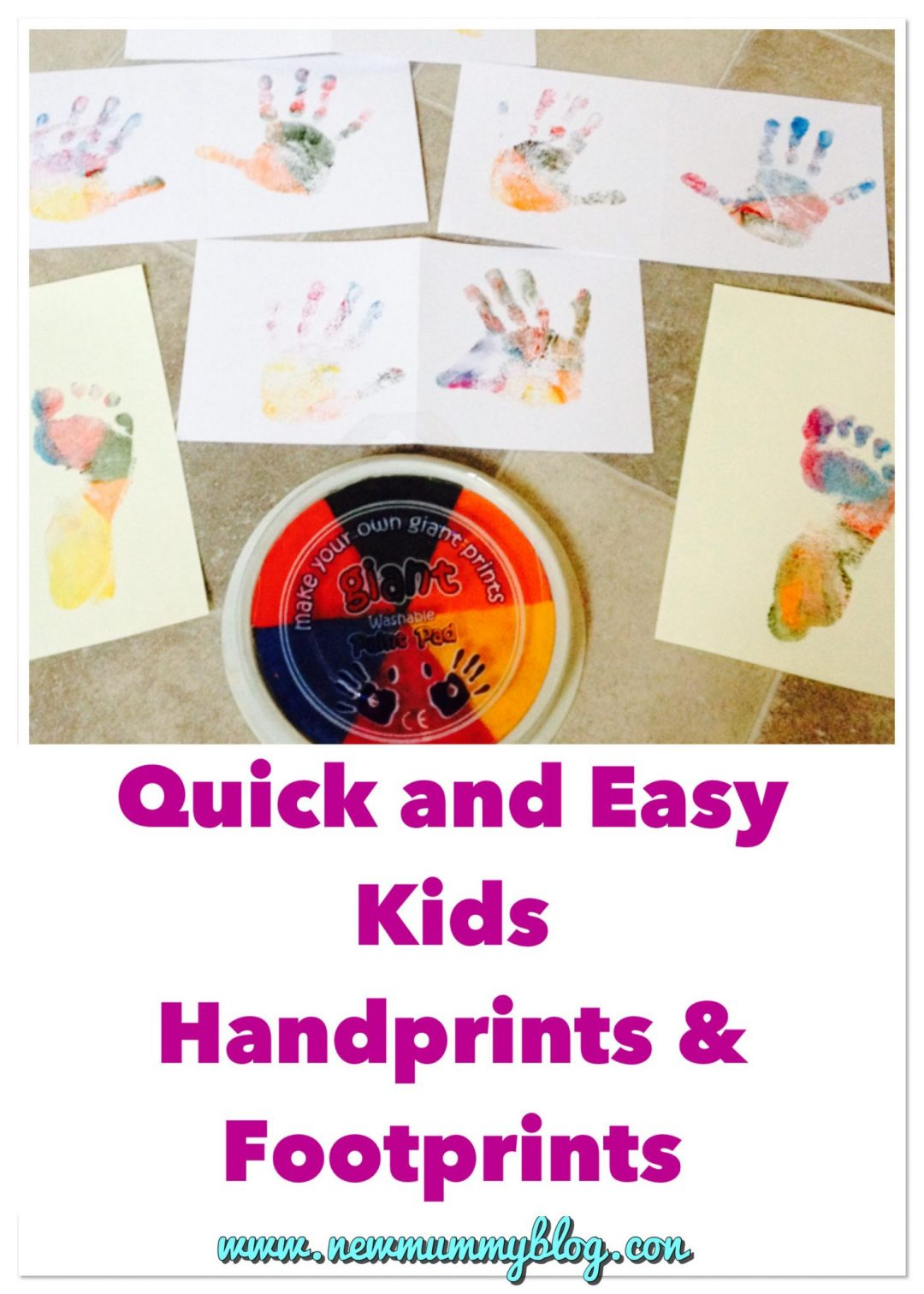 Quick and easy handprints and footprints - kids crafts and art - perfect gifts for family and grandparents