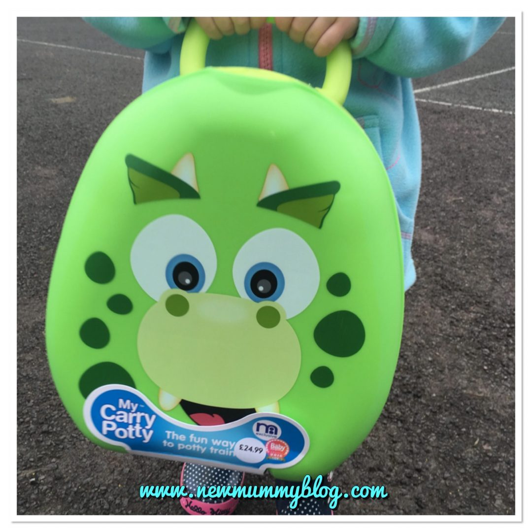 My Carry Potty dinosaur - best travel potty new mummy blog review