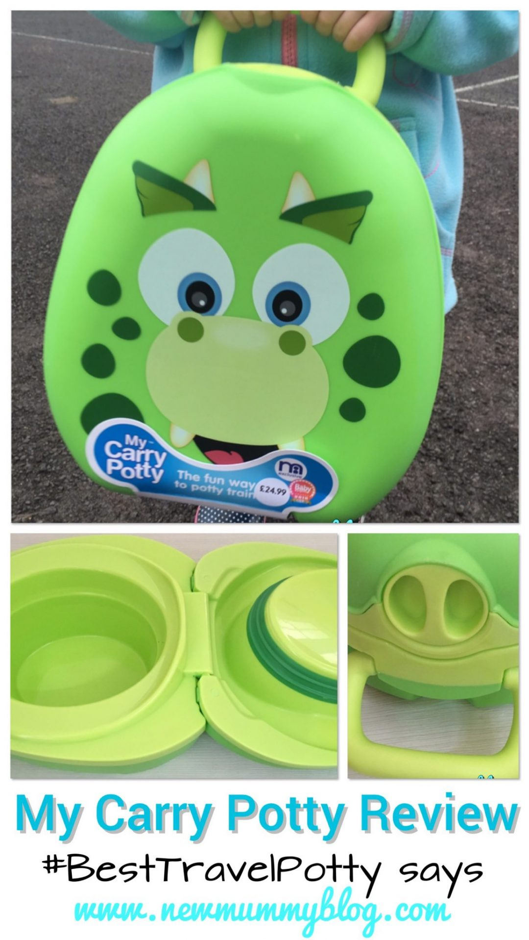 Dinosaur My Carry Potty... Review reveals why we think it's the best travel potty for toddler potty training