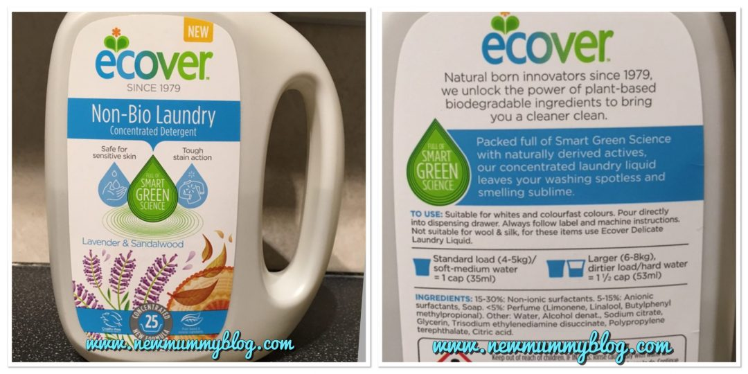 Washing poonami stains with Ecover Non-bio laundry detergent