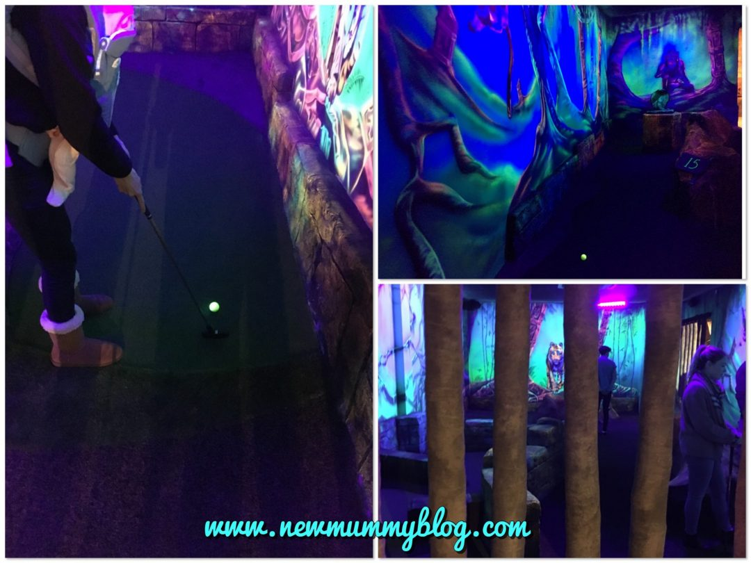 Review Mr Mulligans Mini Golf Cheltenham Family fun days out date night  UV mini golf