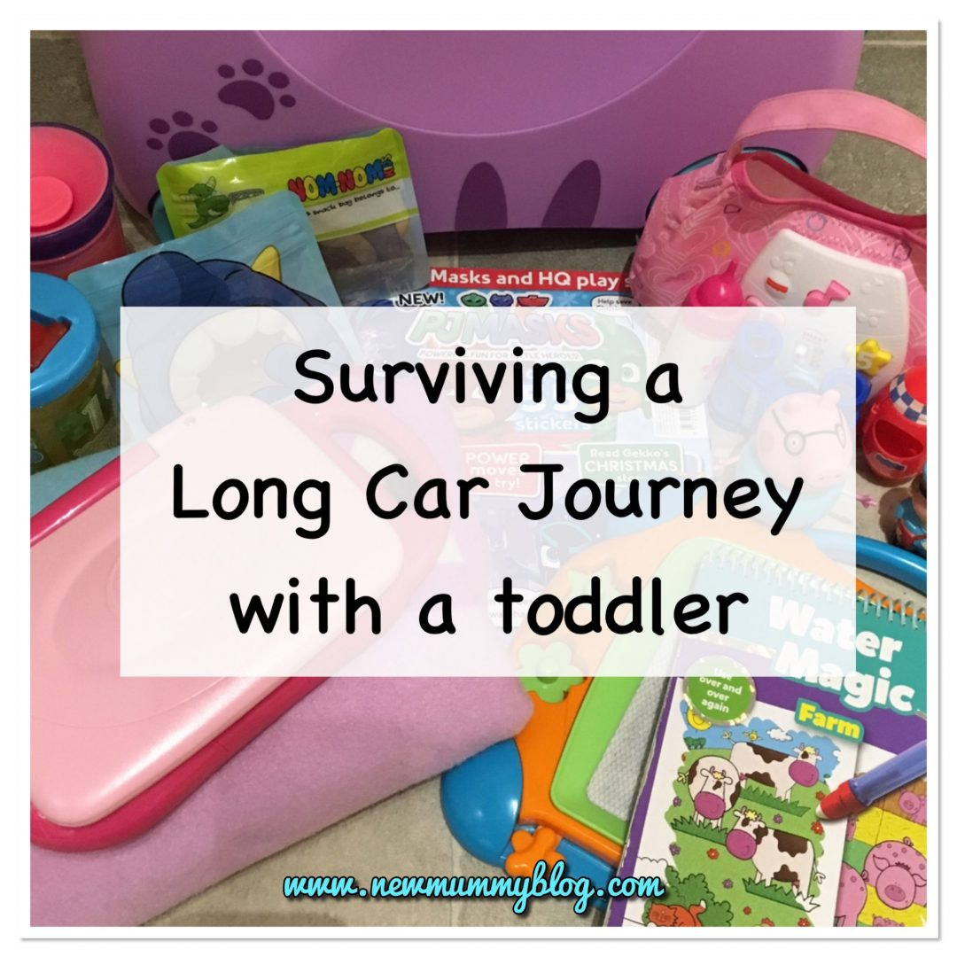 Tips for long car journey with 2 year old kids - toys, snacks and tips