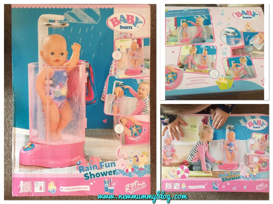 Baby born rain fun shower doll review - fun for 3 year old