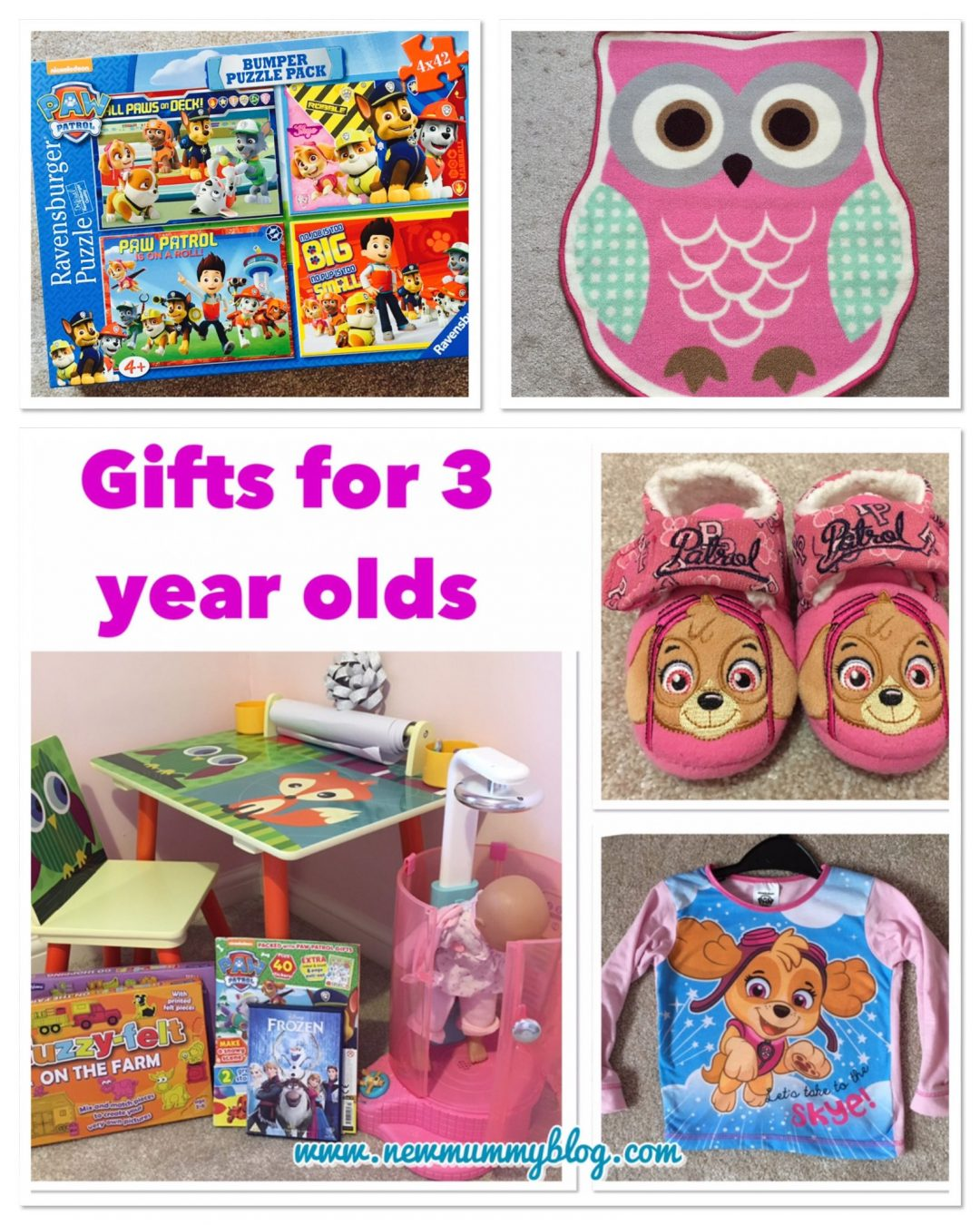 Gifts for a 3 year old