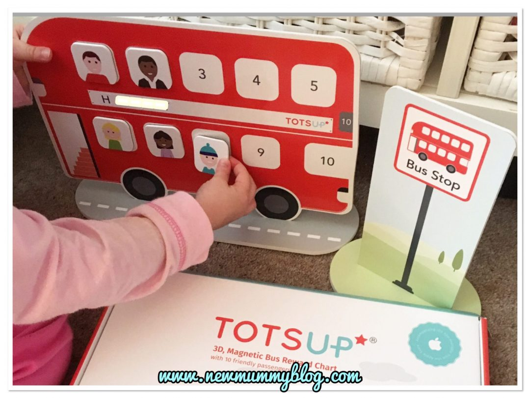 TOTSUP big red bus reward chart for tantrums, potty training, bedtime and threenager madness - fab for 3 year olds