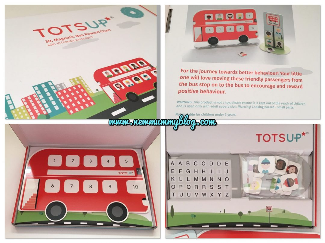 TOTSUP big red bus reward chart for tantrums, potty training, bedtime and threenager madness - review