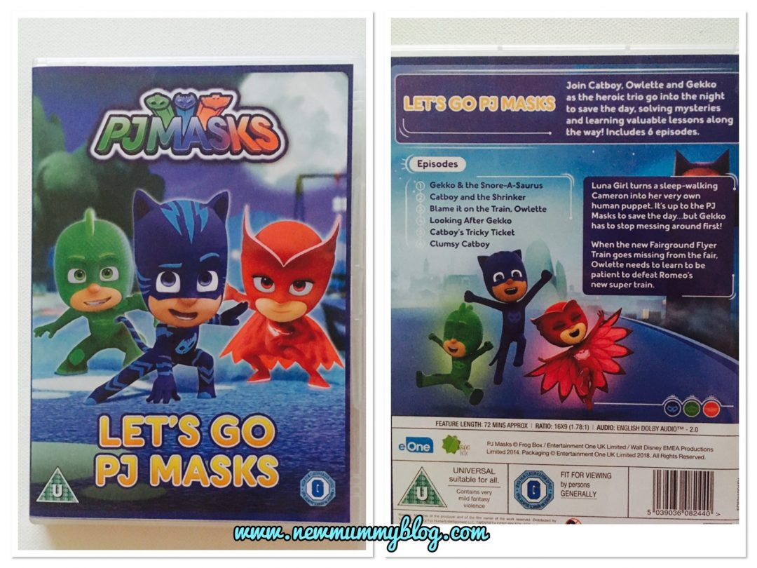 PJMasks DVD - Let's Go PJ Masks review - Gekko, Catboy, Owlette