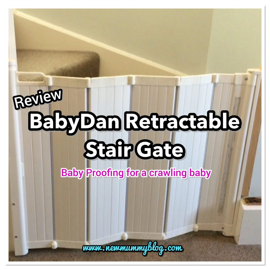 Retractable stair gate review Babydan baby proof and baby safety