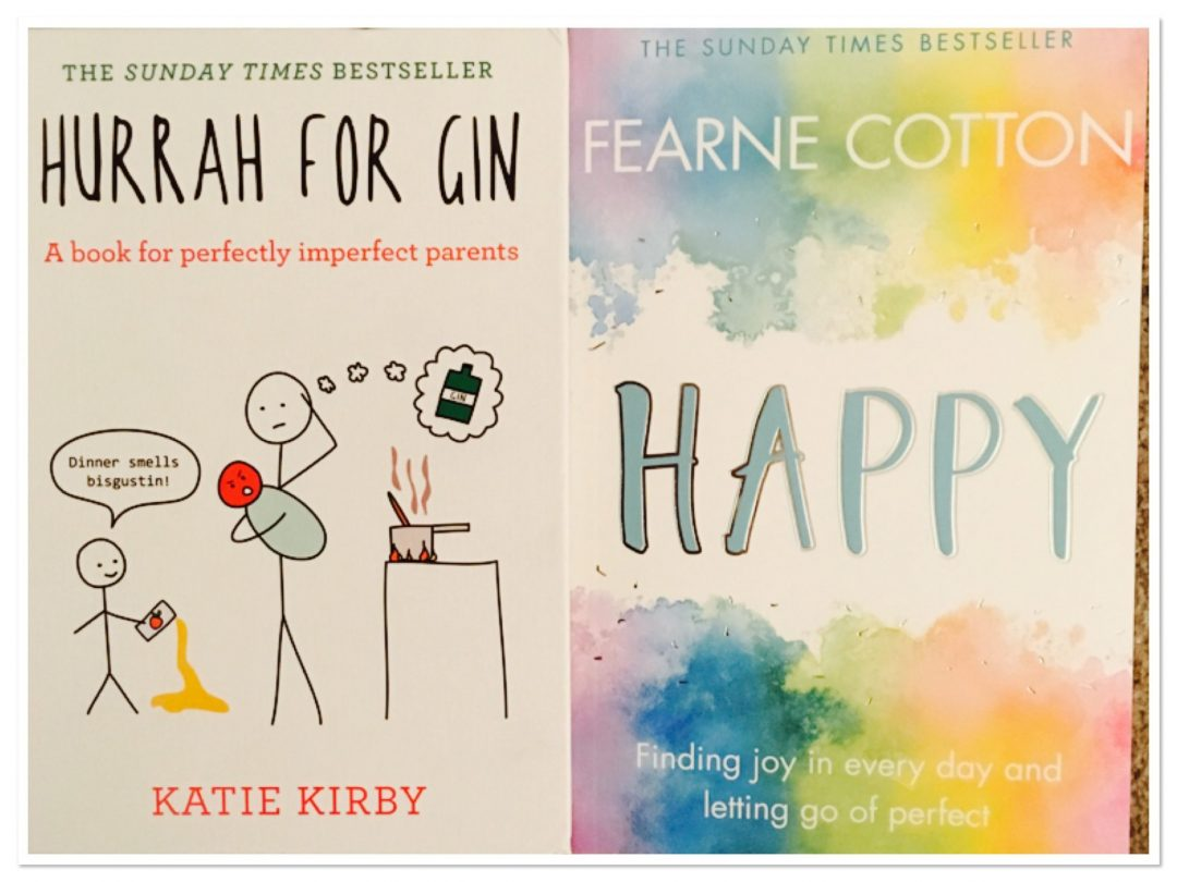 A few feel good books perfect for Mother's Day - Hurrah for Gin by Katie Kirby and Happy by Fearne Cotton