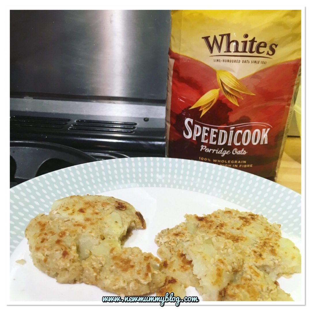 Oaty potato cakes made with White's speedicook porridge oats