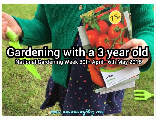 Preschooler gardening with a 3 year old and growing your own veg