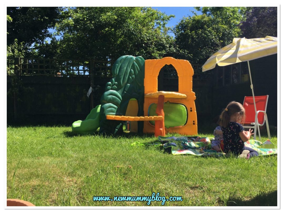 Child friendly garden climbing frame and peaceful surroundings