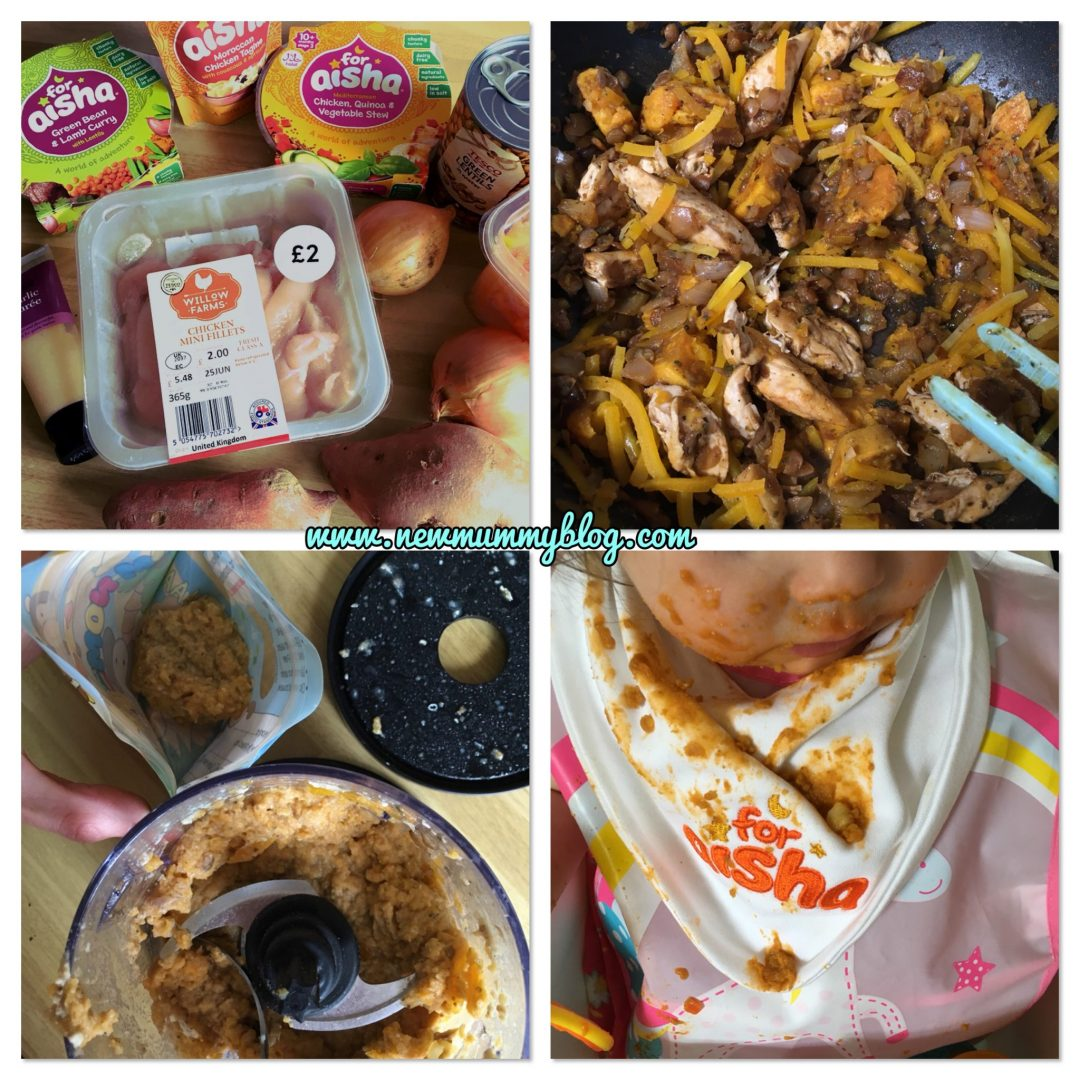 For Aisha, halal babyfood, cooking baby food, weaning, curry, healthy eating, homemade baby food