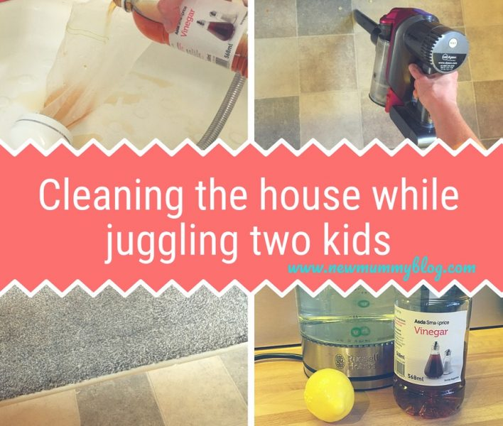 House cleaning hacks while juggling two kids