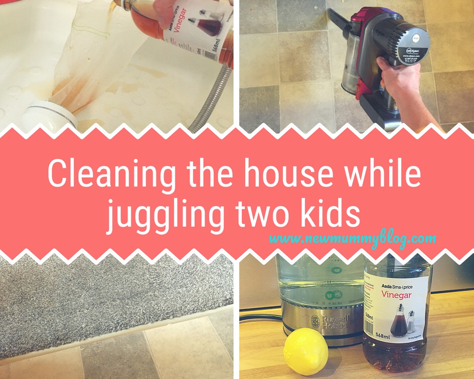 Natural cleaning house cleaning hacks while juggling two kids - House cleaning hacks while juggling two kids. Easy cleaning with no effort - natural eco cleaning if possible - lemon limescale clean kettle, vinegar clean shower head