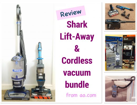 Shark lift away vacuum and Shark duoclean handheld cordless vacuum bundle from ao.com review on blog