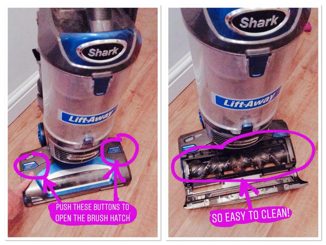 Shark Lift-Away vacuum review - how to clean the brushes