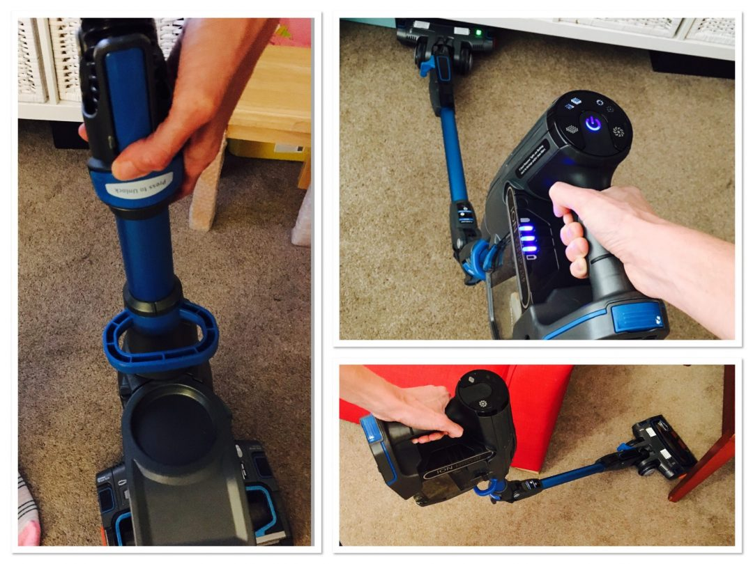 Shark Duo-Clean cordless vacuum review - reach under sideboards, and easy storage