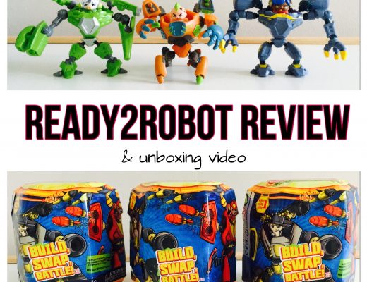 Ready2Robot review - mystery blind bag toy, with YouTube video unboxing and constructing the robots. Includes 3 year Old's first reaction to slime