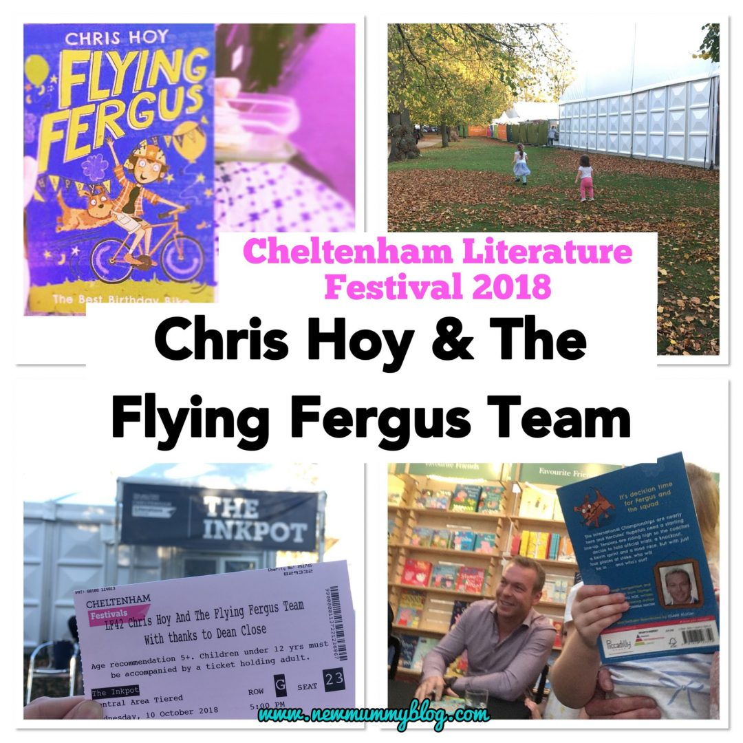 Flying Fergus books by Chris Hoy, Joanna Nadin and Clare Elsom, talking at the Cheltenham Literature Festival 2018 Family event and book signing