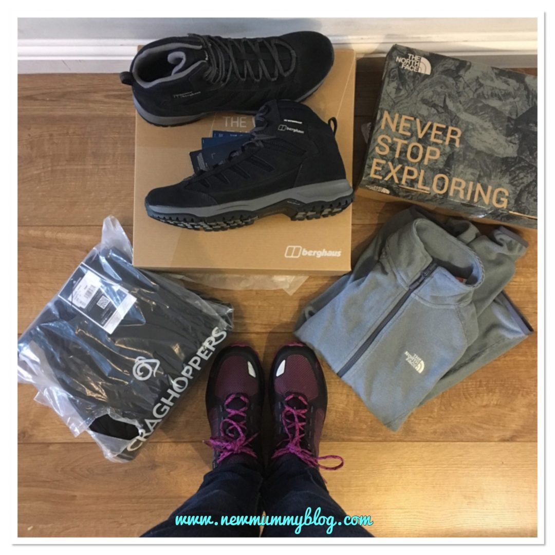 Walking boots, fleece and waterproof trousers for men and women from Blacks for review on New Mummy Blog