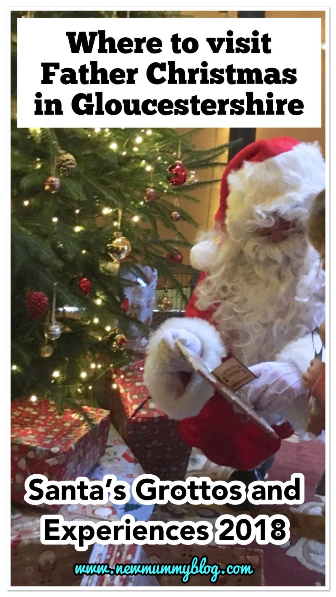 Where to visit Father Christmas in Gloucestershire 2018 - 20+ breakfast with Santa, Santa train, Santa's grottos and winter wonderland experiences near Cheltenham Gloucester Worcestershire Herefordshire - Visiting Santa Christmas tree presents