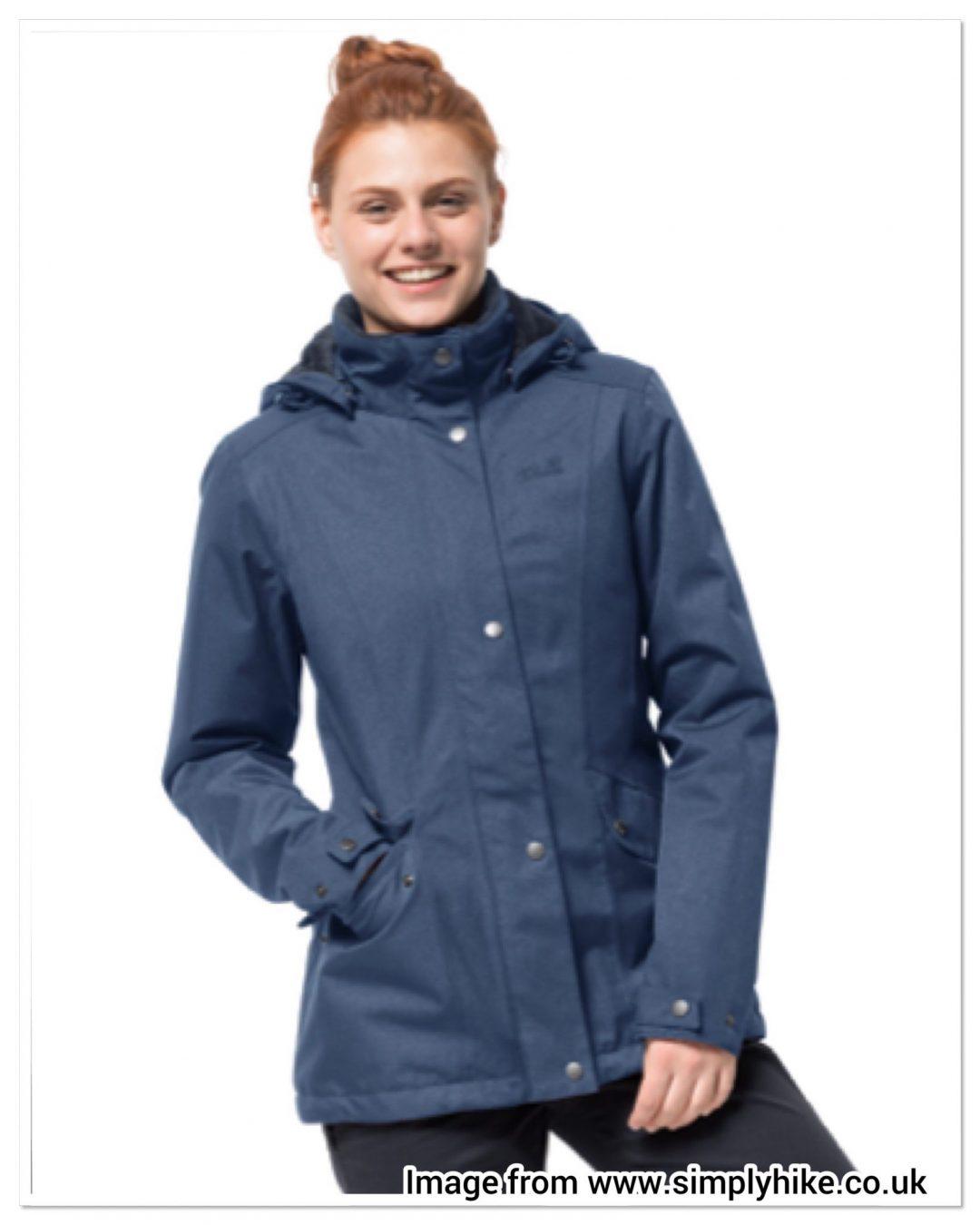 Simply Hike Jack Wolfskin collection jacket navy waterproof school run