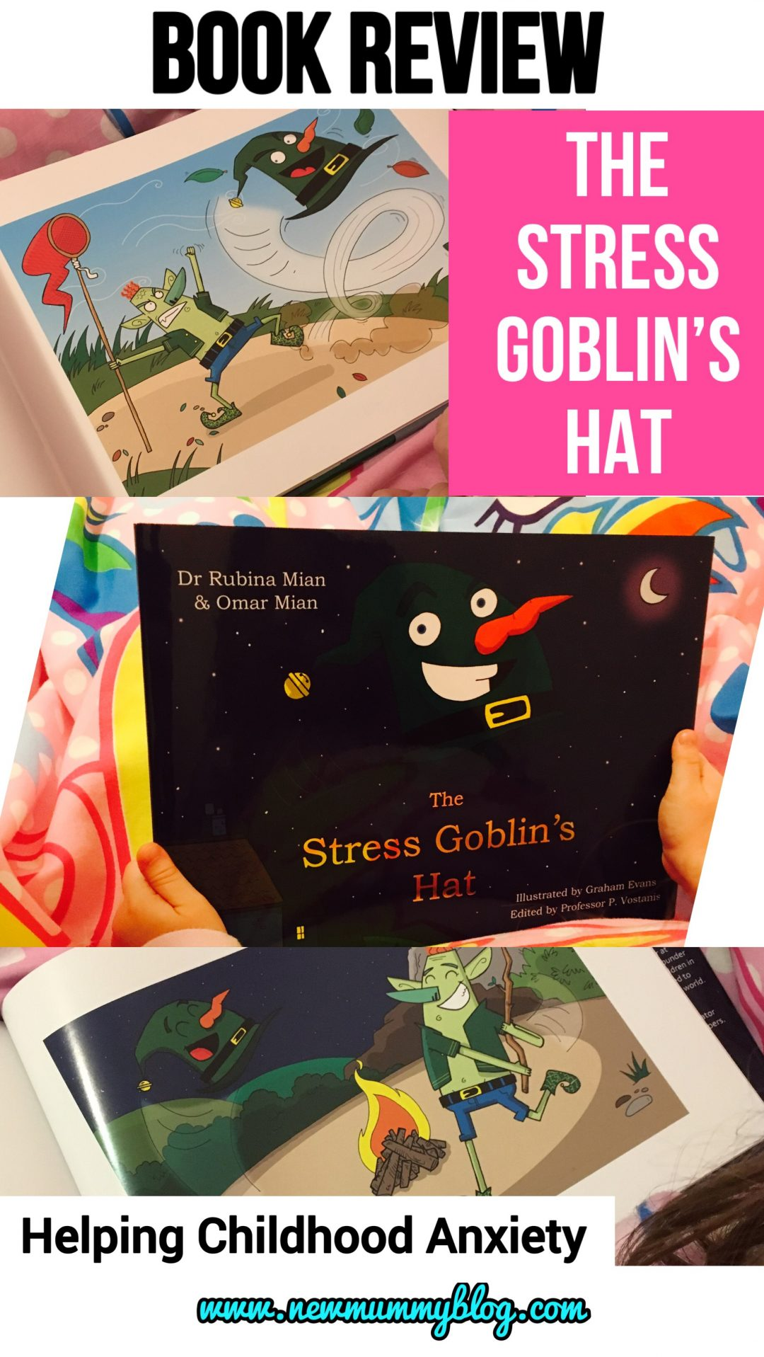 The Stress Goblin's hat book review - addressing and helping with childhood stress and anxiety