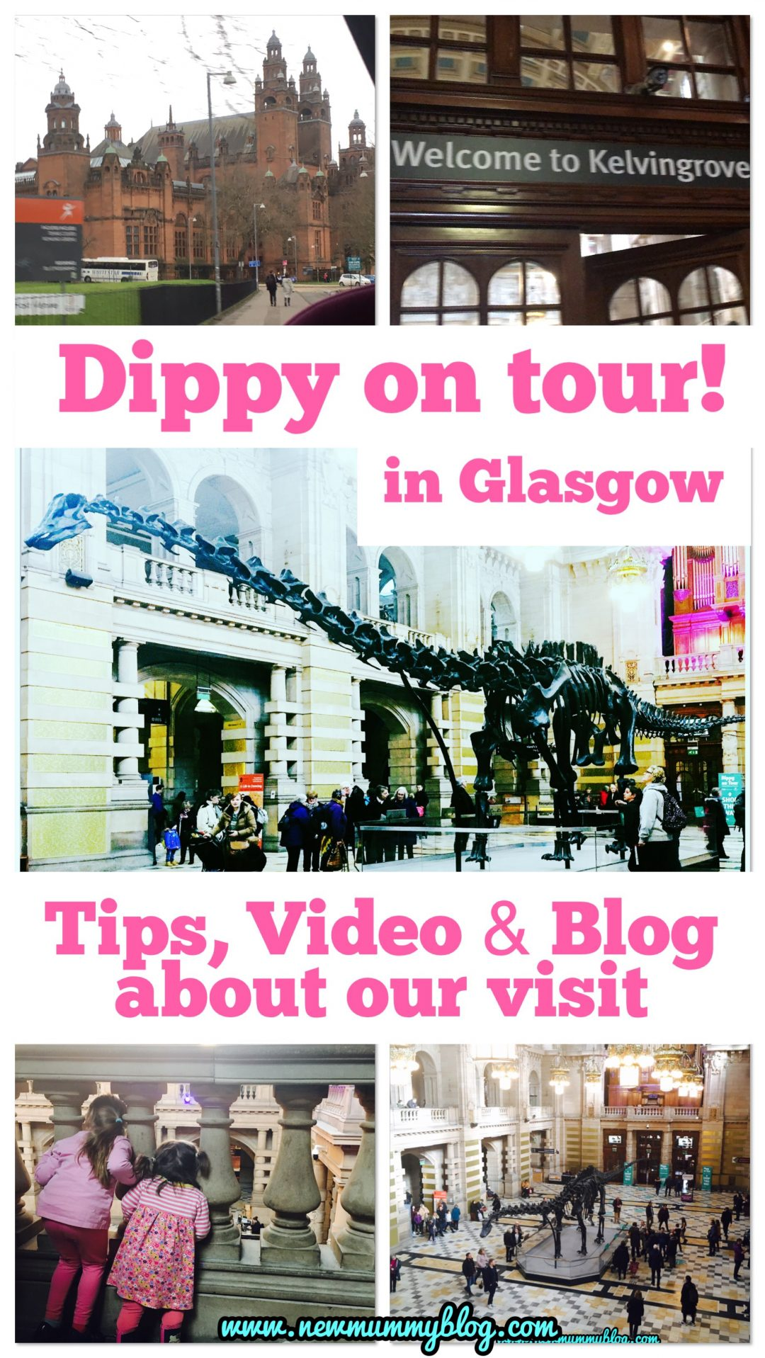 Dippy on tour Glasgow - a day out with the family compilation blog, video, tips to see #dippyontour the diplodocus from Natural History Museum London
