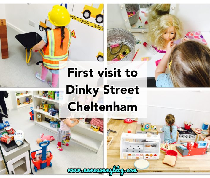 Dinky Street Cheltenham Review - kids role play centre Bishops Cleeve with two kids