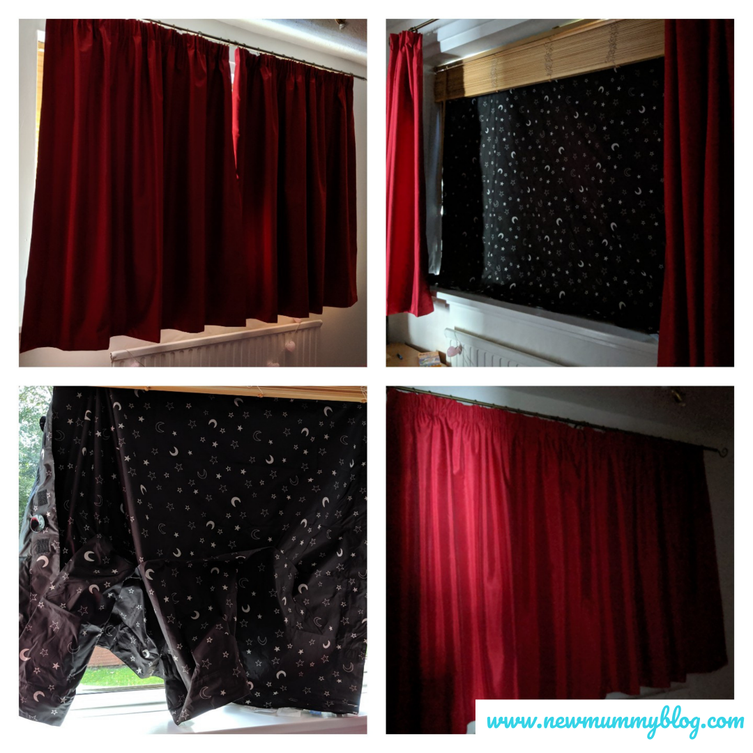 GroAnywhere portable blackout blind review - keeping kids rooms dark and cool in summer