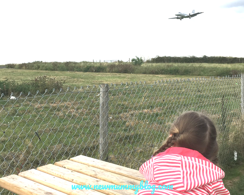 Watching planes at The Aviator Staverton Airport Gloucestershire free kids activities Cheltenham Gloucester school holidays on a budget + free days out with kids
