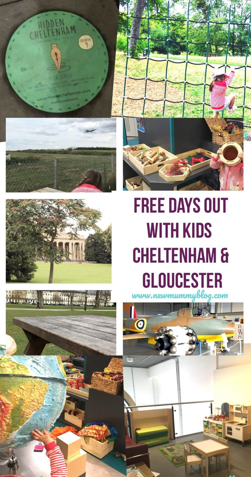 Free days out around Cheltenham & Gloucester, Gloucestershire. Surviving tips for school holidays on a budget - summer 2019