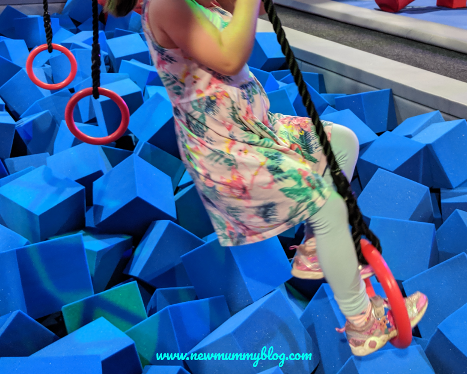 Gloucester Ninja Warrior Adventure park indoor activities rainy day with kids Gloucestershire