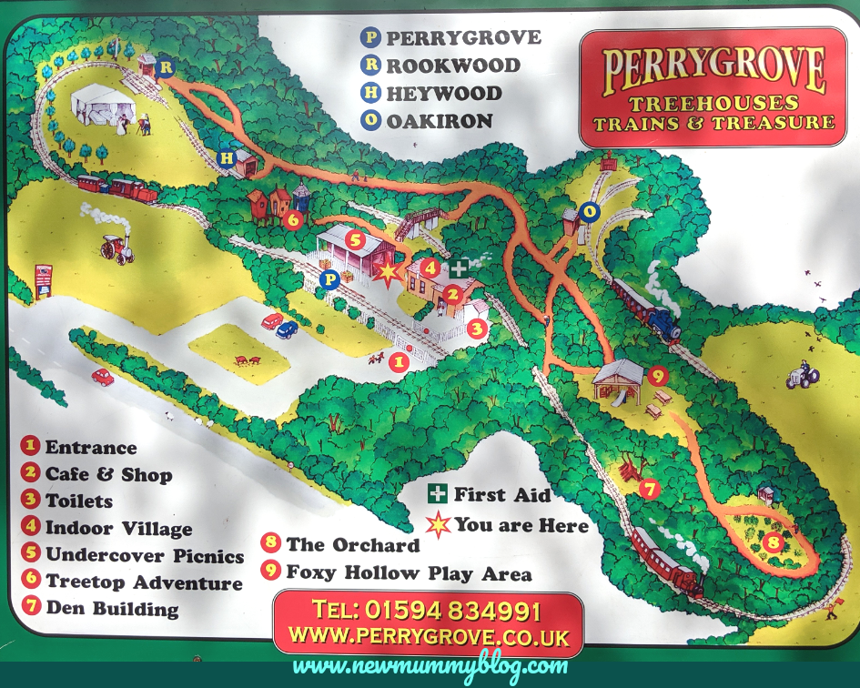 Perrygrove Railway map - plan your visit