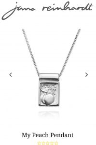 Giveaway Jana Reinhardt handmade necklace My Peach Pendant