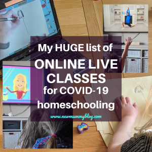 Times and dates of ONLINE classess for kids - Virtual classes which have gone online - timetable: days, times fitness, zoos, animals, live, field trips, art, learn to draw, science classes online