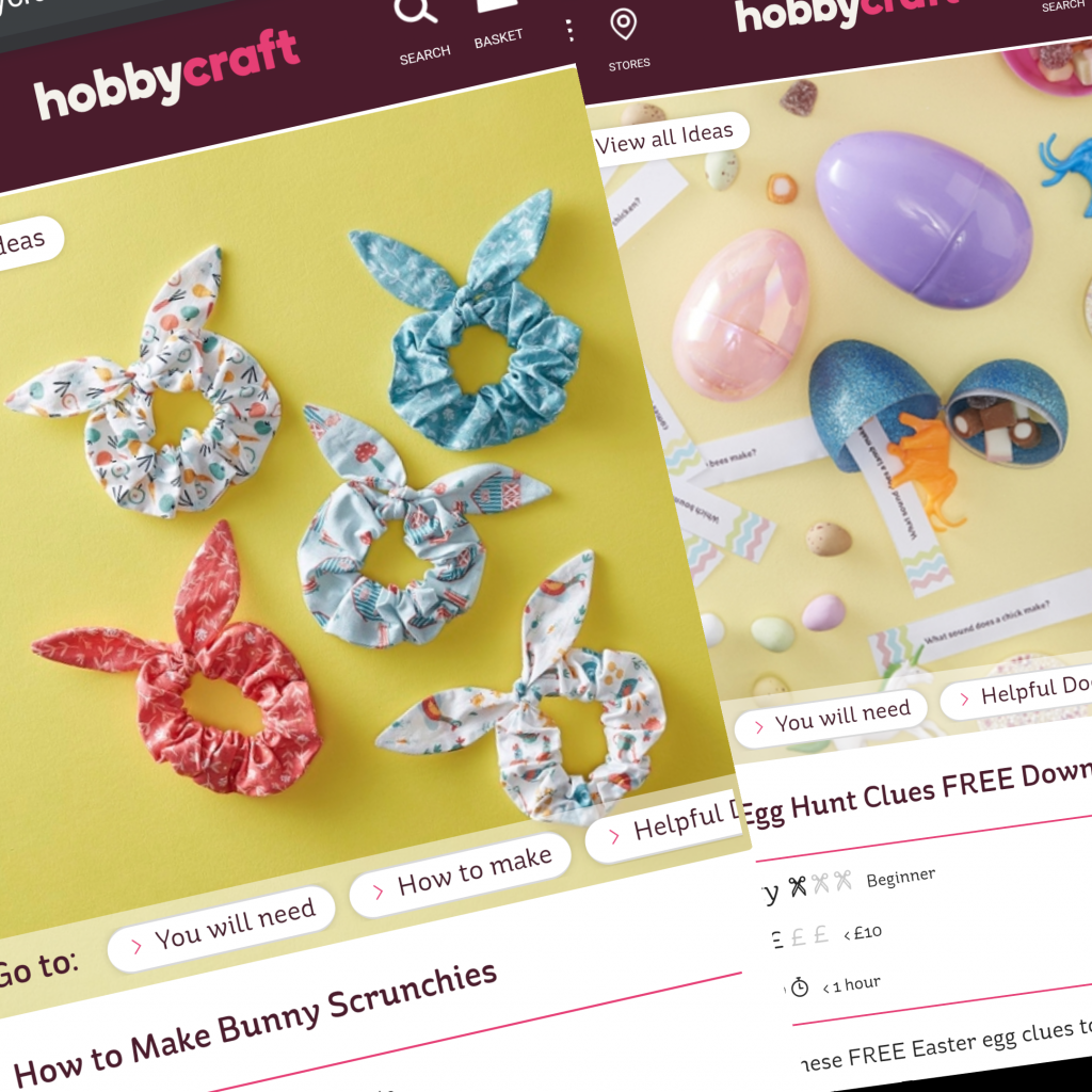 Free Easter activities during schools closed COVID19 - Hobbycraft craft ideas