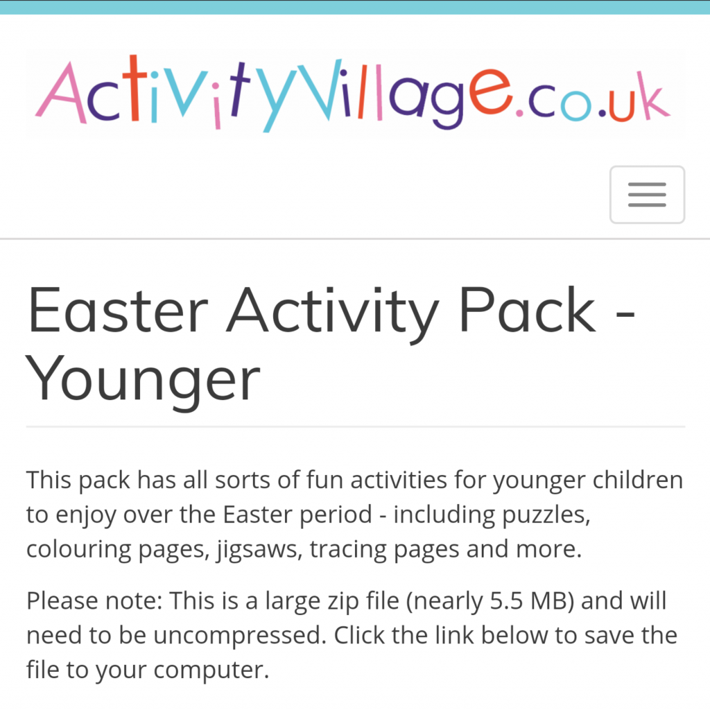 Free Easter activities during schools closed COVID19 - ActivityVillage.co.uk