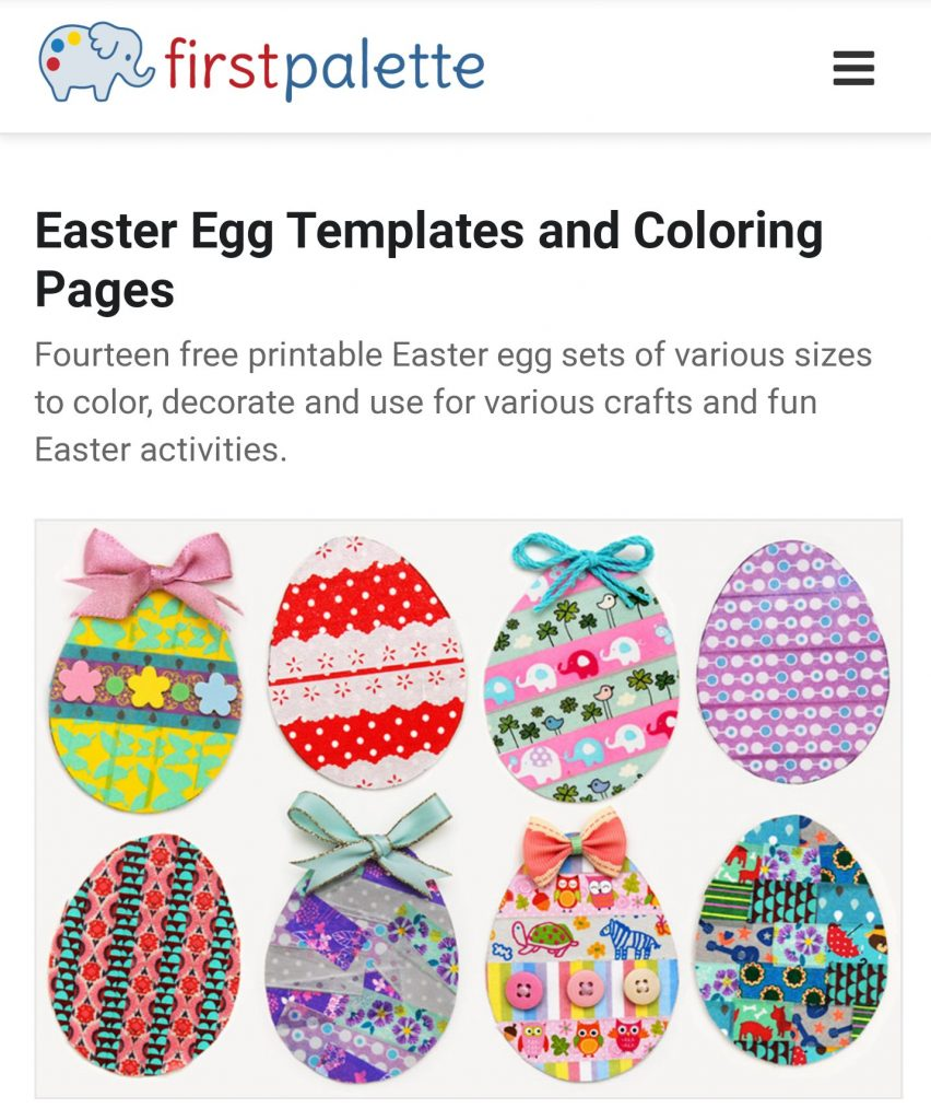 Free Easter activities during schools closed COVID19 -  free Easter Egg colouring prinable